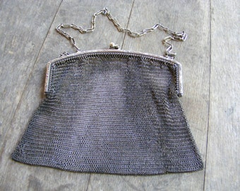 Mesh Purse Sterling Silver WHITING & DAVIS CO.
