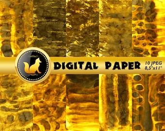 Gold Splash Watercolor Background,Gold Digital Paper,Gold Scrapbook Paper, Watercolor Background,digital paper,Watercolor paper,scrapbook