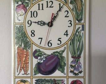Vegetable Tile Clock