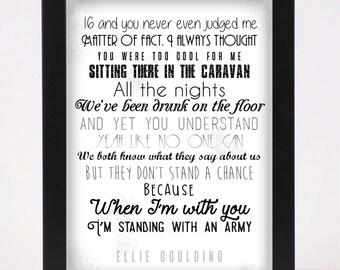 Ellie goulding | Etsy