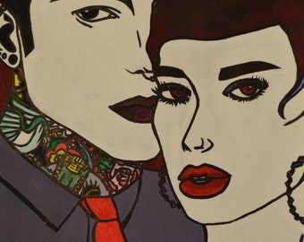 Tattood Couple Poster/Print