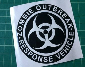 Zombie Outbreak Response Vehicle 20cm sticker