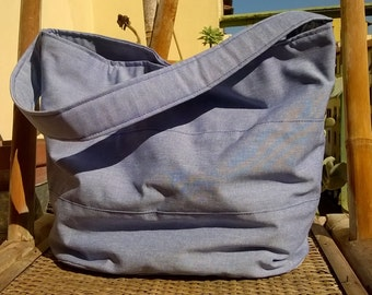 blue cloth bag