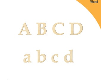 Wood Letter, Laser Cut Wood Letters, Crafting Shapes, Ornaments Letters, Wooden Alphabet Letter Style C