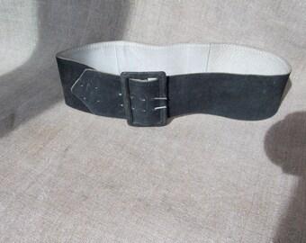 Women's belt leather suede\black belt