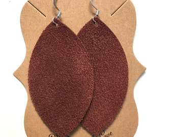 Rust Suede Statement Earring