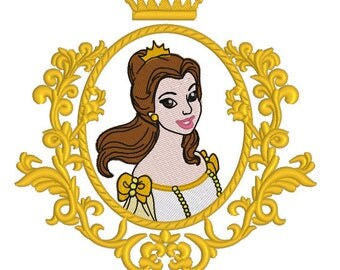 Machine Embroidery Design - Princess Belle - 2 in 1