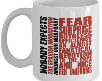 Classic Comedy Mugs - Nobody Expects The Spanish Inquisition - Ideal Funny Gifts