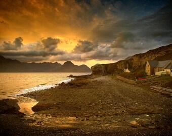 Elgol, Isle of Skye, Scotland, mountains, seashore, ocean, waves, photography, landscape, wall art