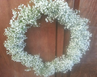 Freshly Cut Baby's Breath Wreath