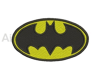Batman Logo Embroidery  design 8 Size  INSTANT download machine embroidery