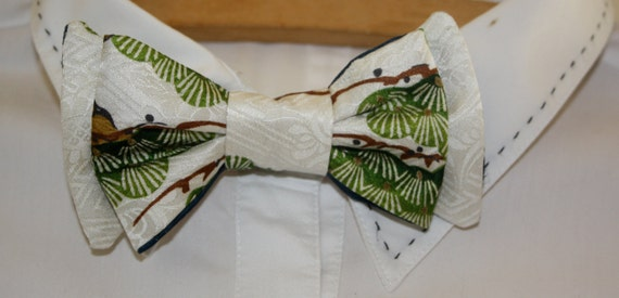 Silk Bow Tie by Foxy and Boo Studio