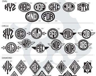 Vinyl Monogram, Yeti Monogram, Monogram with Frame, Customizable