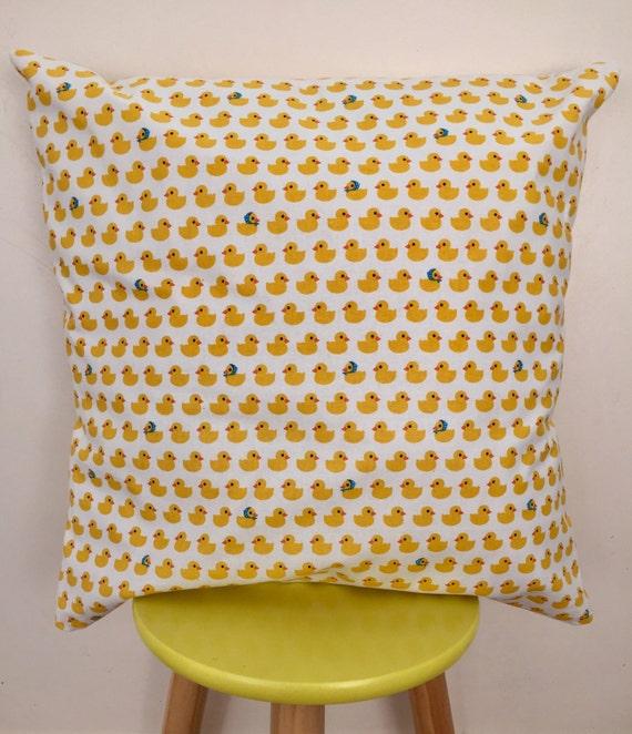 Unisex yellow duck baby shower gift cushion cover 45cm x 45cm