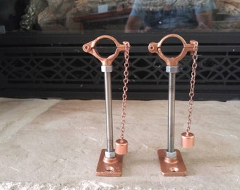 Wine Bottle Tiki Porch Torches Hanging Kits with Wicks & Wick Holders, Lot of 2