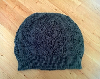 Owl in the Bush Lace Slouch Hat