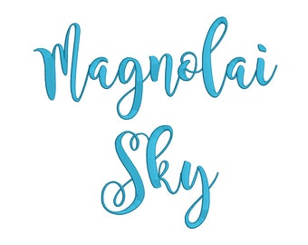 1 Size Magnolai Sky Font Embroidery Fonts BX  9 Formats Embroidery Pattern Machine BX Embroidery Fonts PES