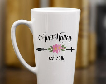 New Aunt Mug - Gift for Aunt - Announcing New Aunt - Gift for Her - Gift for Sister - custom coffee mug