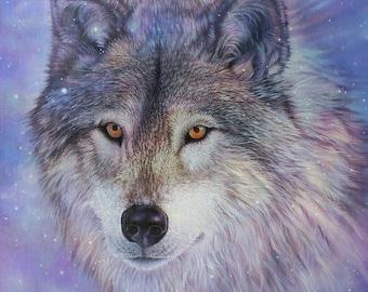 Wild Wolf Spirit Animal Totem fine art giclee print by Leslie Macon