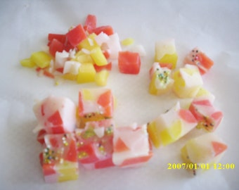 wax melts,trio scented chunk wax melts,pineapple,banana,strawberry melon ,candle melts,candle tarts