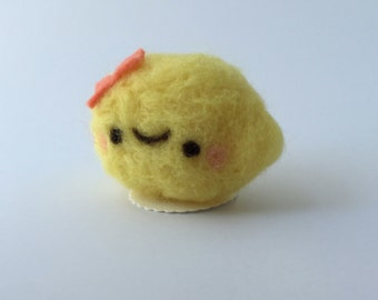 Sweet Lemon of Needle Felted Wool