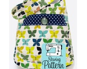 Bucket Bag PDF Sewing Pattern   PDF Pattern to Sew a Deep Shoulder Tote Bag with a Large Front Pocket
