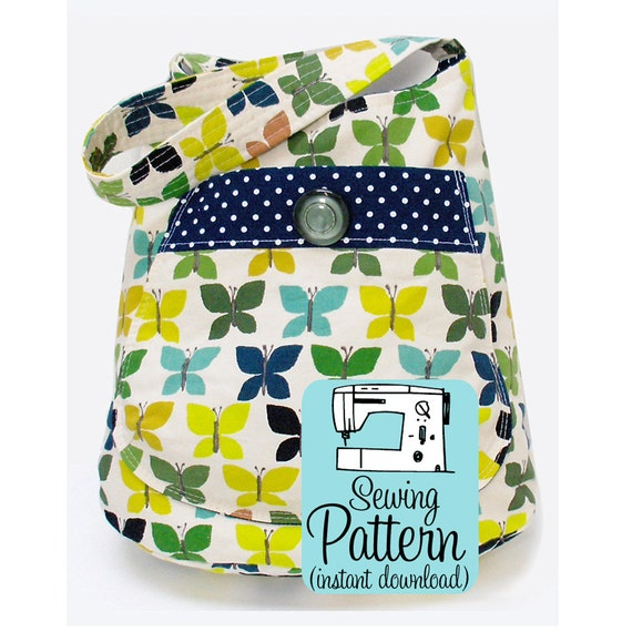 Bucket Bag PDF Sewing Pattern | PDF Pattern to Sew a Deep Shoulder Tote Bag with a Large Front Pocket