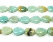 Multi Amazonite Natural Top Drilled Teardrop Gemstone Beads