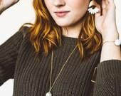 Magda - White Howlite Tassel Necklace