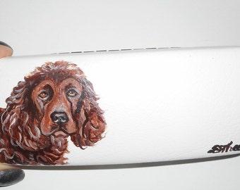 Boykin Spaniel Dog  Hand Painted Eyeglass Case Sunglass Case