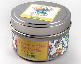 Far Out Soy Candle Travel Tin 6 oz