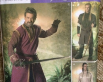 Simplicity Pattern 4942-Mens Lord of the Rings, Renaissance, Medieval Pattern-Sizes XS - XL, Adult Mens,Andrea Schewe-OOP-New and Uncut