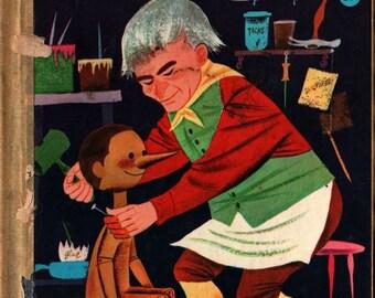 Pinocchio Carlo Collodi's Famous Story - Evelyn Andreas - Art Seiden - 1954 - Vintage Book
