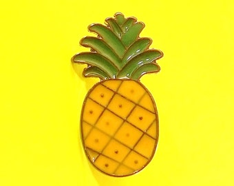 Pineapple Cute Fruit Kitsch Badge Enamel Pin