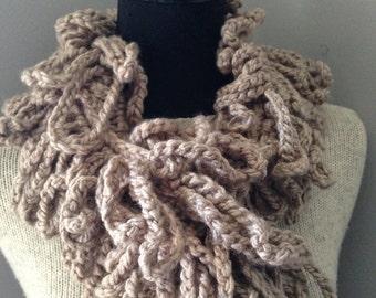 Instant Download Crochet Scarf PATTERN PDF Poppy Loop Anthropologie-inspired Infinity Scarf Beginner's Pattern Crochet Instructions