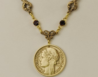 France Coin Necklace 1941