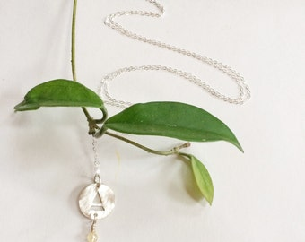 Air Necklace with Citrine