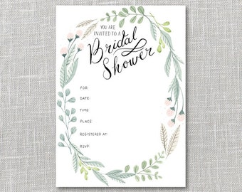 Bridal Shower Invitation Printable Instant Download PDF