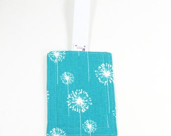 Luggage Tag / Bag Tags / Cute Luggage Tags - Teal Dandi