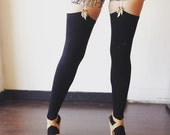 Thigh High Bamboo Stockings, Black