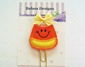 Halloween Candy Corn Planner Clip, Bookmark, Planner Accessory, Paper Clip