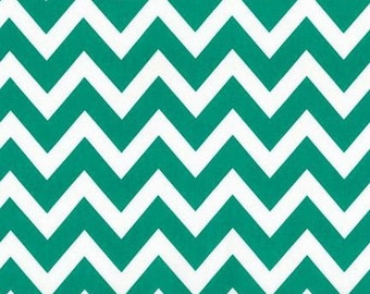 ON SALE - 10% Off Robert Kaufman Remix Zig Zag Emerald Green Chevron Quilting Apparel Fabric BTY