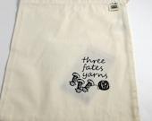 Three Fates Yarns Logo knitting bag