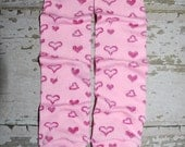 pink hearts, leg warmers, baby leg warmers, legwarmers, infant leggings, toddler leg warmers, newborn leg warmers, heart leg warmers, babies