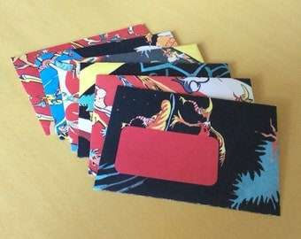 Seusselopes & Stationery - envelopes upcycled from vintage 50's illustrated Dr. Seuss book- Set of 6!