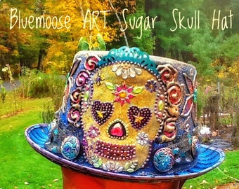 Sugar Skull Costume Top Hat Bluemoose ART