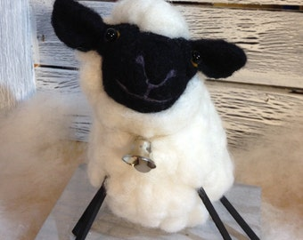 Zucchini  the Needle Felted Sheep