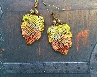 autumn tapestry earrings