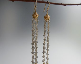 Labradorite Aella Earrings
