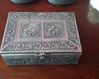 vintage box jewelry box keepsake box